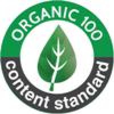 オーガニック100認証マークが付いているの画像